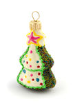 Christmas tree decoration toy fir-tree isolated on white Stock Photo