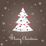 Christmas tree, decoration. Vector illustration Royalty Free Stock Image