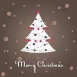 Christmas tree, decoration. Vector illustration Royalty Free Stock Image