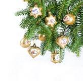 Christmas tree decoration. vinrage balls Stock Photos
