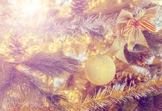 Christmas tree decoration. Christmas tree decoration vintage style Royalty Free Stock Photography