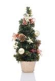 Christmas tree decoration on white background Royalty Free Stock Photos