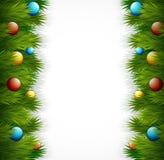 Christmas tree decoration on white background Royalty Free Stock Image