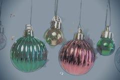 Christmas tree decoration on white. Holiday illustration Stock Photos