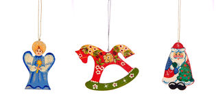 Christmas-tree decorations. On white background Stock Photo