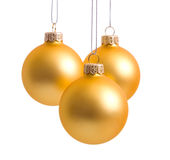 Christmas-tree decorations. On white background Stock Images