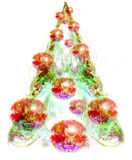 Christmas tree with decorations Stock Photos