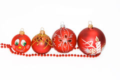 Christmas tree decorations. On a white background Stock Photos