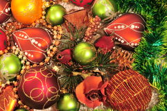 Christmas-tree decorations Stock Photos