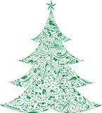 Christmas Tree with decorations royalty free illustration