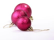 Christmas-tree decorations. Lie on a table Stock Images