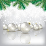 Christmas tree and decorations Royalty Free Stock Photos