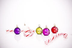 Christmas tree decorations. On white background Stock Photography