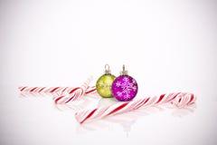 Christmas tree decorations. On white background Stock Photo