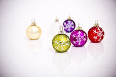 Christmas tree decorations. On white background Stock Images