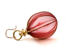 Christmas-tree  decorations. Christmas-tree (New-year tree) decorations isolated on white Stock Image