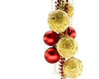 Christmas-tree decorations. Isolated on a white background Royalty Free Stock Photography