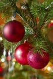 Christmas-tree decorations. On a christmas fur-tree Stock Photo