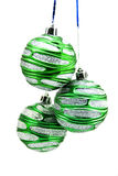 Christmas-tree decorations. Isolated on a white background Royalty Free Stock Photos