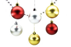 Christmas-tree decorations. Isolated on a white background Stock Photography