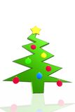 Christmas tree and decorations Royalty Free Stock Photo