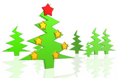 Christmas tree and decorations Royalty Free Stock Images