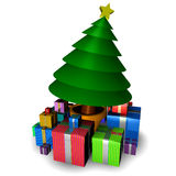 Christmas tree with decorations vector illustration
