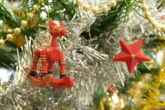 Christmas tree decorations. Something differnet some nice handmade christmas tree decorations royalty free stock image