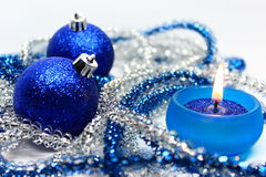 Christmas-tree decorations. Candle and Christmas-tree decorations stock photography