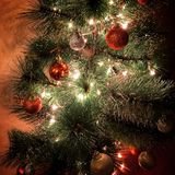 Christmas tree. Decorations Stock Images