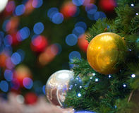 Christmas tree decorations and background Royalty Free Stock Photos
