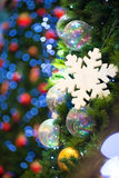 Christmas tree decorations and background Stock Image