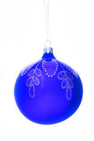 Christmas-tree decorations  ball. On white Royalty Free Stock Images