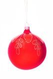 Christmas-tree decorations  ball. On white Royalty Free Stock Photos