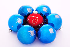 Christmas-tree decorations balls. On white Stock Images