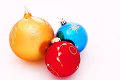 Christmas-tree decorations balls Stock Photo