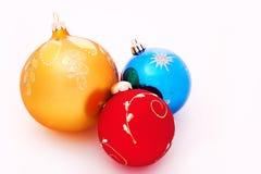 Christmas-tree decorations balls. On white Stock Photo