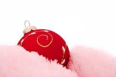 Christmas-tree decorations balls. On white Royalty Free Stock Photos