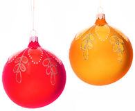 Christmas-tree decorations balls. On white Stock Image