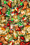 Christmas tree decorations baubles, toys and ornaments. retro st Royalty Free Stock Image