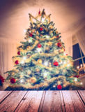 Christmas tree with decorations and candles royalty free stock photography