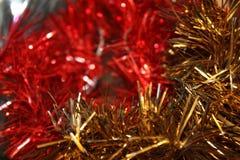 Christmas tree decorations, Christmas rain. christmas background royalty free stock photography