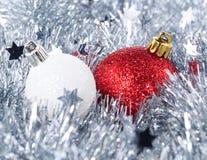 Christmas tree decorations. Close up Royalty Free Stock Photos