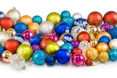 Christmas tree decorations closeup Stock Photography