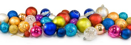 Christmas tree decorations closeup Royalty Free Stock Image