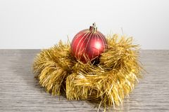 Christmas tree decorations, colorated balls in a whte b royalty free stock photos