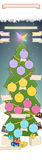 Christmas tree. With decorations digital drawing stock illustration