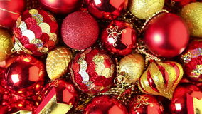 Christmas tree decorations stock video