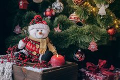 Christmas tree with decorations royalty free stock images