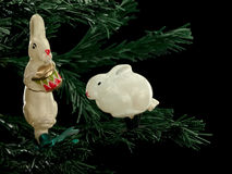 Christmas-tree decorations from glass Royalty Free Stock Images